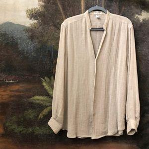 Giorgio Armani LINEN Button Up Tunic Top M